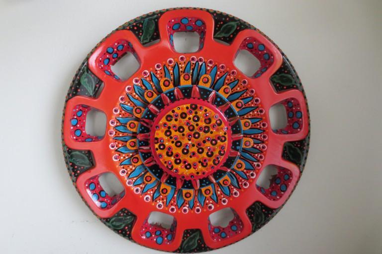 Blooming hubcap full
