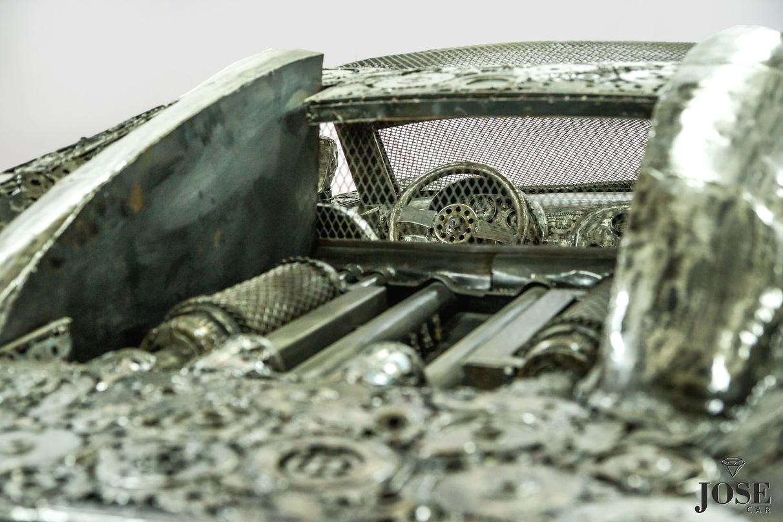 Scrap metal Bugatti engine