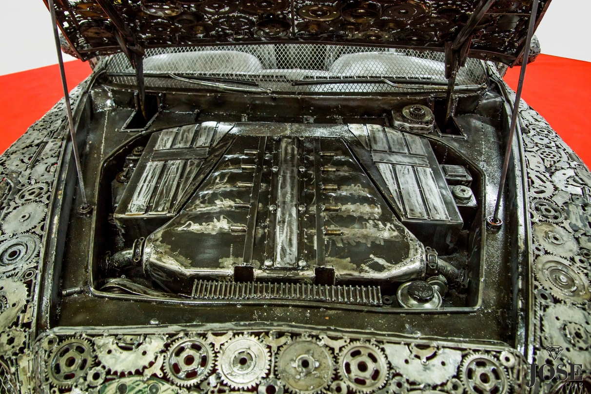 Scrap car engine