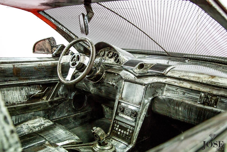 Scrap car interior
