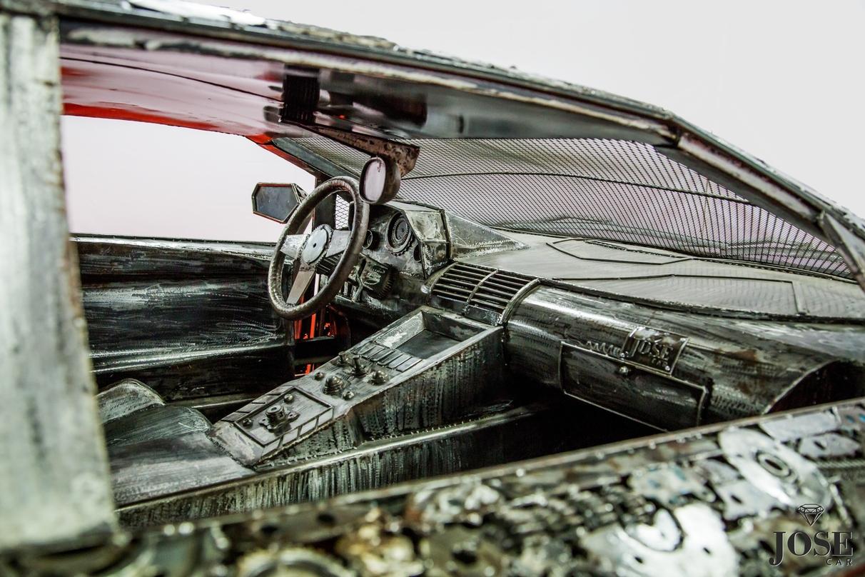 Scrap metal lambo interior